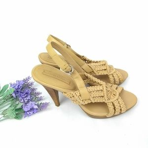 Banana Republic  Crochet Wood Heels Sandals